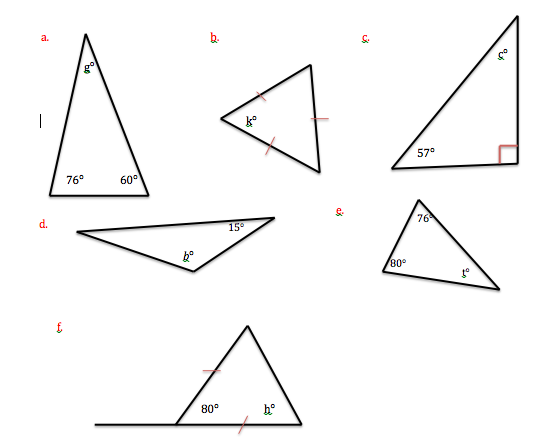 The Unknown Angle In A Triangle Geometric Figures
